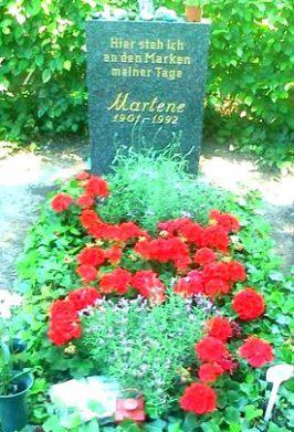 Grabstein Marlene Dietrich
